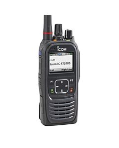 Icom F7010S P25 Compliant Portable Marine UHF/VHF Radio w/ Simple Keypad