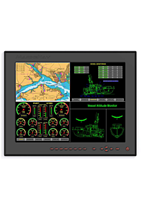 MarineNav CG Elite 15 Marine LCD Touch Screen with Integrated Computer Option, CGE-15