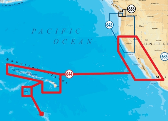 Simrad Navionics Plat+ XL 644PP S  Baja California & Hawaii